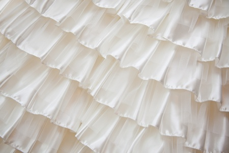 lace up: Detail of a wedding dress
