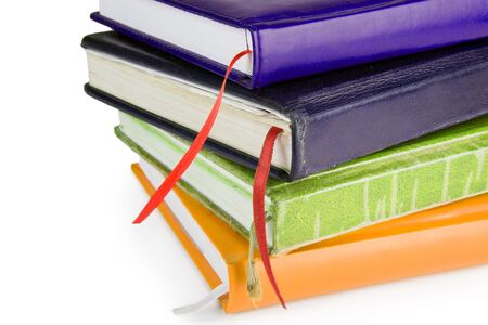 Closed colored Leather Notebooks