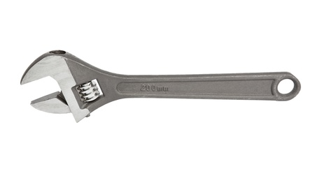 screwdriwer: adjustable spanner  monkey spanner  isolated over white Stock Photo