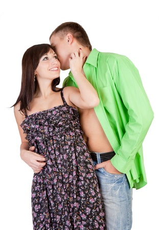 The loving couple plays the fool Stock Photo - 14634387
