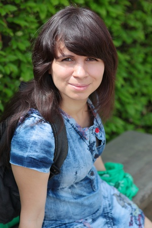 beautiful girl the brunette Stock Photo - 14668895