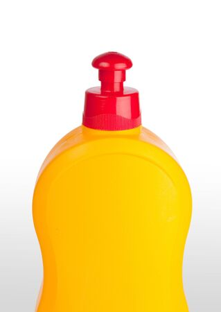 Yellow plastic bottle photo