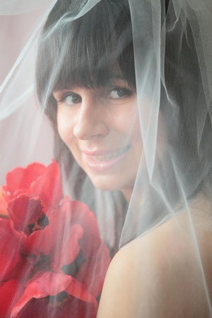 The bride with tulips Stock Photo - 14914065