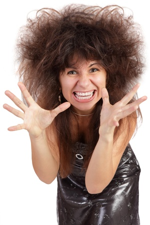 A frustrated and angry woman is screaming out loud Stock Photo - 14914455