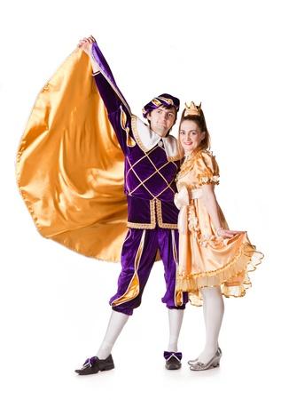prince: Guy and girl dressup as Prince and Princess