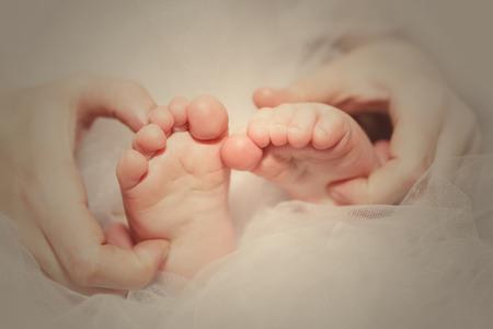 baby's feet: Babys feet Stock Photo