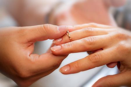 Engagement ring Stok Fotoğraf
