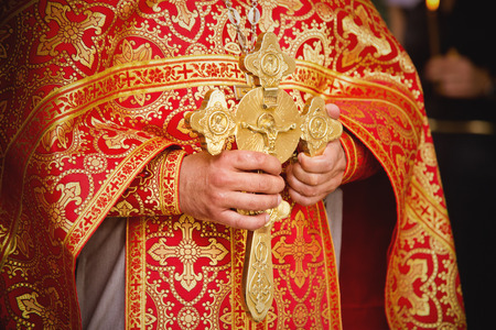 catholic church: Priest during a ceremony