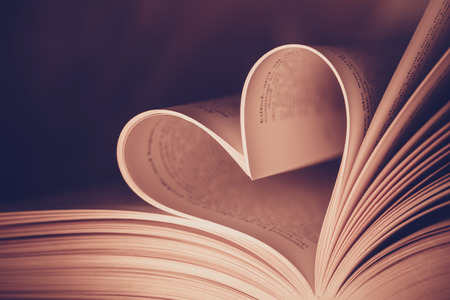 Heart book page - vintage effect style pictures Standard-Bild