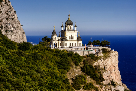 Church of the Resurrection of Christ (Church On The Rock), Foros, Crimea, Ukraine.