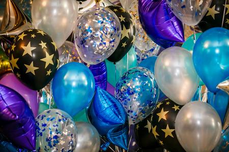 Fiesta globos multicolores para fondo