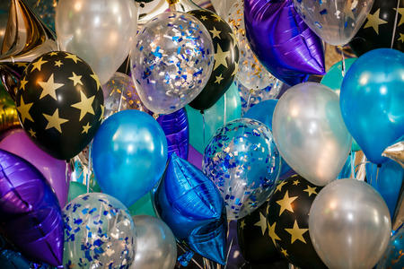 Party multicolored Balloons for Background