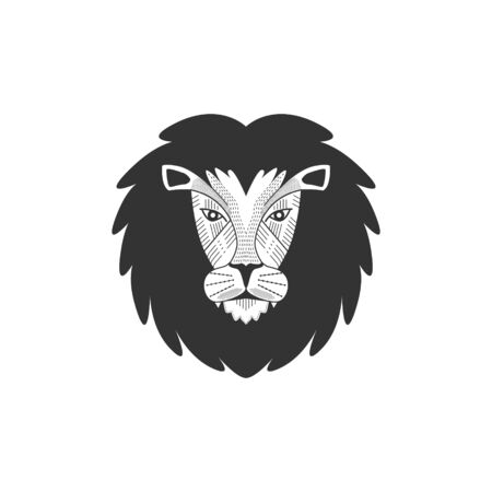 Lions Head Vector Illustration