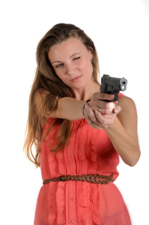 the girl with the gun photo