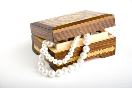old casket on a white background