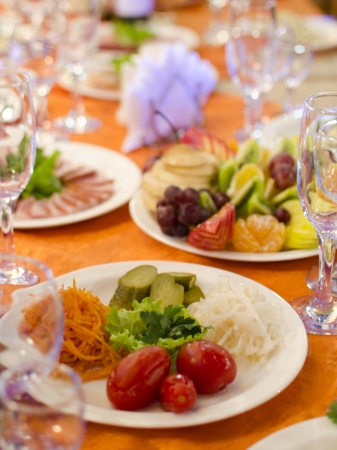 the laid table at restaurant Stock Photo - 17167653