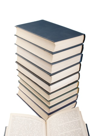 it is a lot of books on a white background