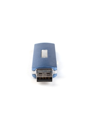 micro drive: blue flash card on a white background
