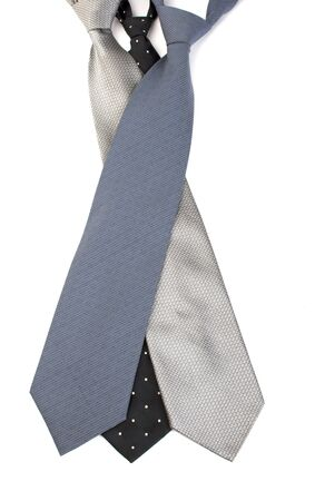 ties on a white background Stock Photo