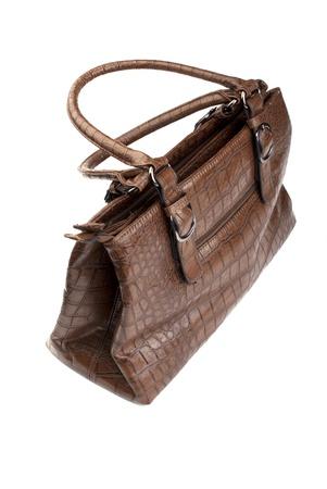 female handbag on the white photo