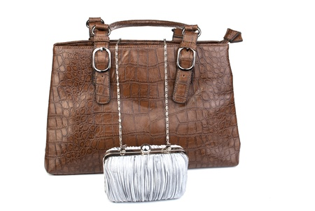 female handbag on the white Stock Photo