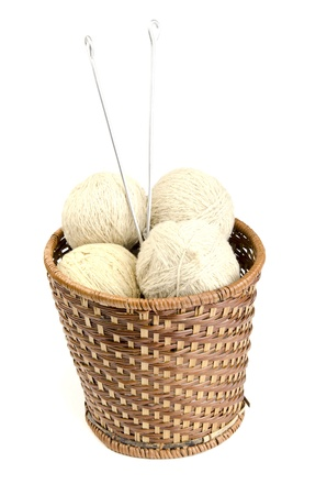 yarn hanks in a basket