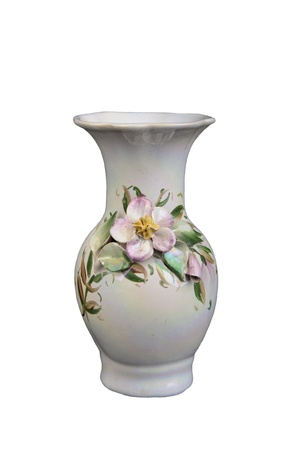 porcelain vase on a white background
