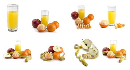 Collage from ripe fruit Stock Photo