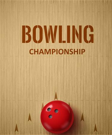 Illustartion of bowling realistic theme  Editable vector Stock Illustratie