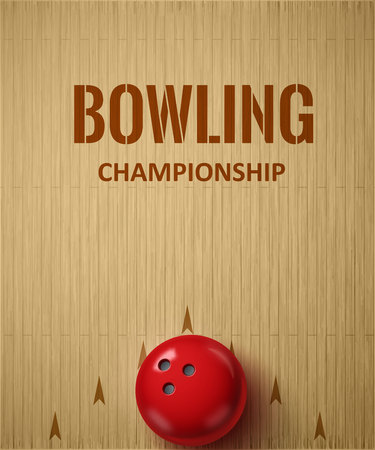 bowling strike: Illustartion of bowling realistic theme  Editable vector Illustration