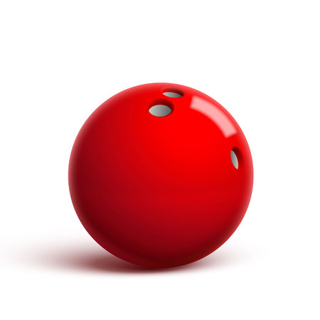 Illustartion of red bowling ball isolated on white