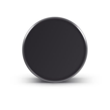 Illustartion of  Hockey puck isolated on white with shadow