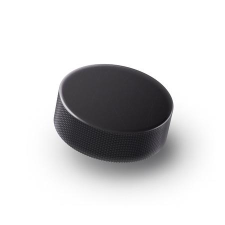 isolated illustartion: Illustartion of  Hockey puck isolated on white with shadow