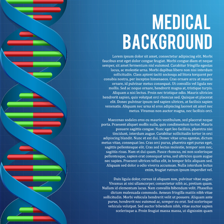 medical heart: vector illustration of Medical background. DNA structure Genetic health