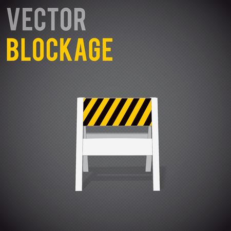 road safety: Illustartion of  blockage. Restrictions road signs warning