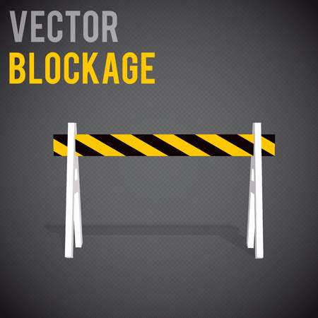 entrance is forbidden: Illustartion of  blockage. Restrictions road signs warning