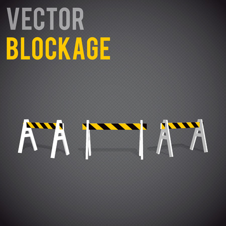 blockage: Illustartion of  blockage. Restrictions road signs warning