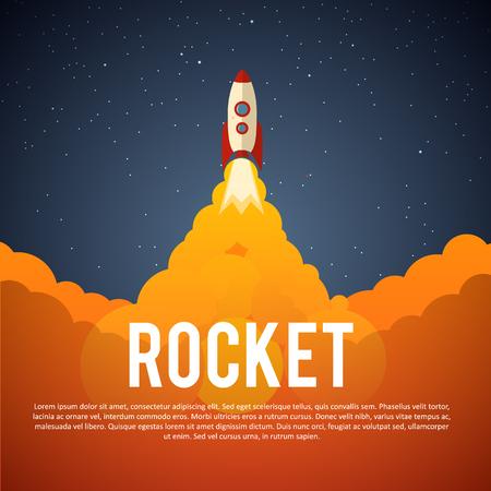ロケット Illustartion 起動アイコン。ベクトル イラスト eps 10  イラスト・ベクター素材