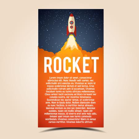 llamas de fuego: Illustartion of Rocket launch icon. Vector illustration eps 10 Vectores