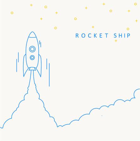 Illustartion of Rocket launch icon. Vector illustration eps 10 Vettoriali