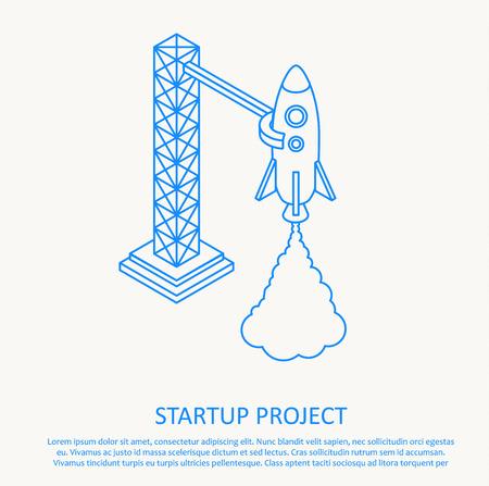 fantasy alien: Illustartion of Rocket launch icon. Vector illustration eps 10 Illustration