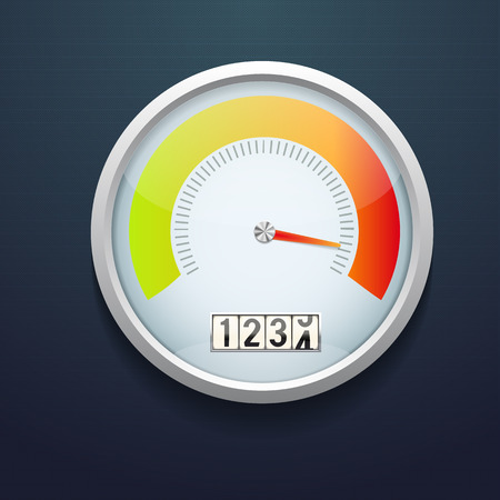 tariff: Illustartion of Speedometer realistic icon. Vector illustration. speed