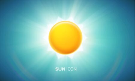 synopsis: illustration of orange glowing sun