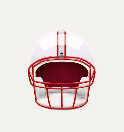personalize: Illustartion of american football helmet realistic object front view