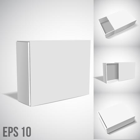 cajas de carton: Vtctor illustartion de White Box El paquete aislado en blanco