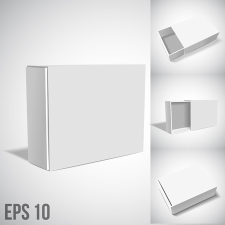 white boxes: vtctor illustartion of White Package Box isolated on white