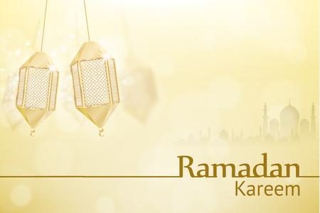 islam: Illustartion of ramadan kareem background religion holiaday Illustration