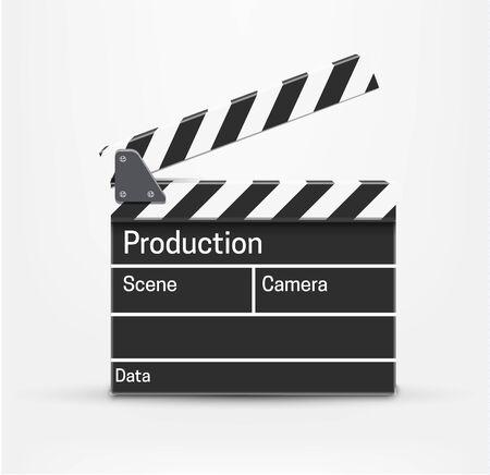 cinematograph: Illustartion of movie realistic theme eps 10 isolated on white