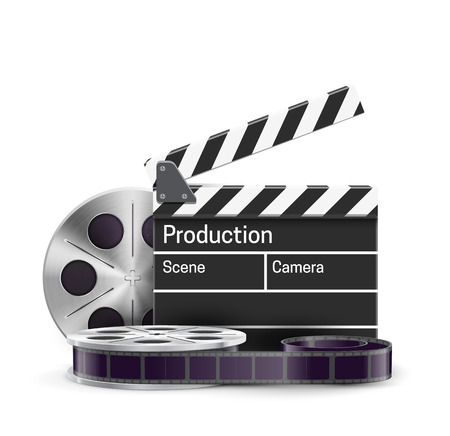 cinematograph: Illustartion of movie realistic theme eps 10 isolated on white