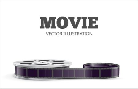macchina fotografica: Illustartion di film a tema realistico eps 10 isolato su bianco